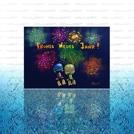 Grußkarte - Frohes neues Jahr
