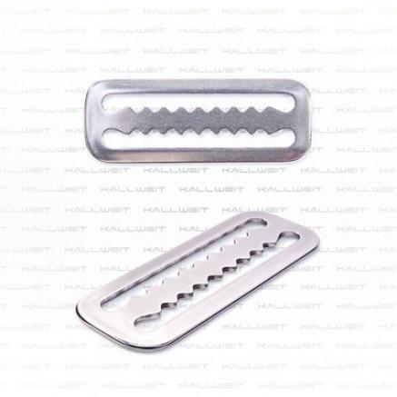 Gurt- und Bleistopper, Edelstahl, gezahnt, 50 mm