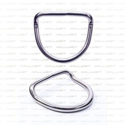 D-Ring, Edelstahl, 45° Ausführung, 50 mm Gurt