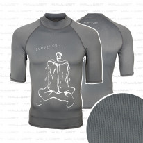 Lycra Shirt UV Schutz Rash Guard  - Survived -